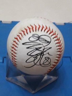 棒球天地--全台唯一--若松勉 簽名球.字跡漂亮..日本空運來台..