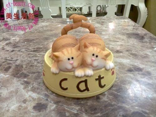 OUTLET限量低價出清美生活館--全新 鄉村 可愛 親親小懶貓 -- 小懶貓情侶 擺飾 -卡哇伊--送禮自用
