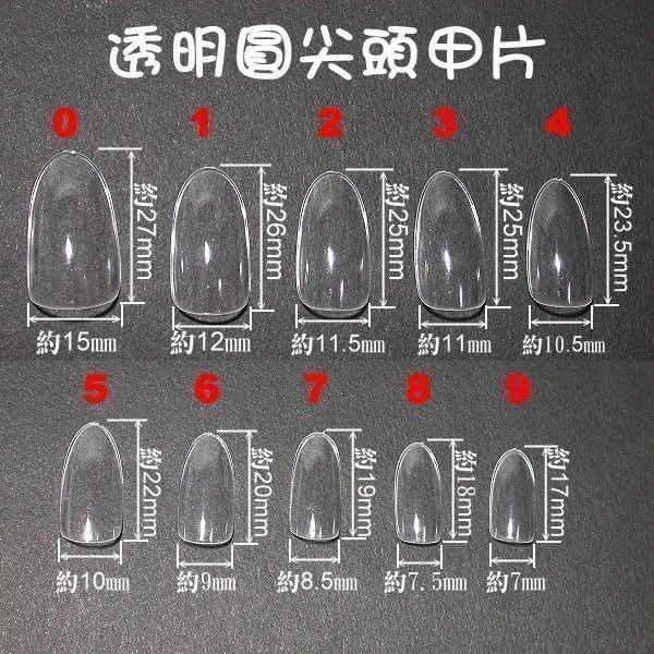 最新的喔~《專業造型圓尖頭甲片-有透明、自然、白色等款》~每包500片裝~數量有限
