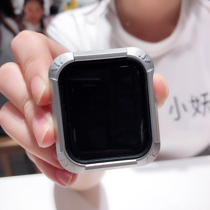 蘋果 Apple watch4 手錶殼 表殼矽膠軟盔甲 iwatch4 保護殼 全包 44/40 手錶殼