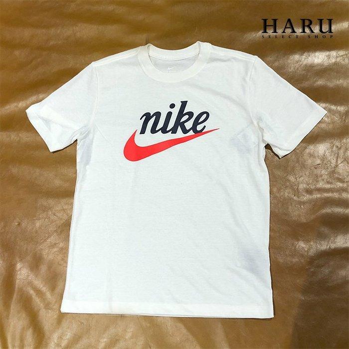 ☆HAru☆ Nike M NSW TEE SSNL 1 復古標 阿甘標 草寫  休閒運動 白色