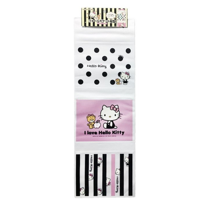 瘋狂購 日本空運直送 景品娃娃 各式小物 生活用品 凱蒂貓 Hello Kitty 壁掛收納袋(縱型/三格)