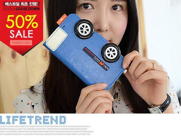 蝦靡龍美【KR104】韓國連線 kiki boong │Note 2│車子復古造型質感皮套 保護殼 手機套 出清價