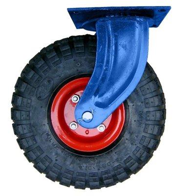 台灣製造 PU輪 風輪 (活動式 附座)10吋 打氣輪 推車輪 輪子 腳輪 工具車輪 手推車輪 獨輪車輪 打氣輪胎