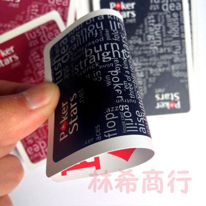 新款$60 poker stars 磨砂 經典大字 塑膠 撲克牌 撕不爛 防水 鋪克牌 可水洗 內附切牌卡一張 切牌片