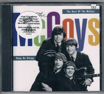 [鑫隆音樂]西洋CD-THE MCCOYS / HANG ON SLOOPY!-THE BEST OF MCCOYS /全新