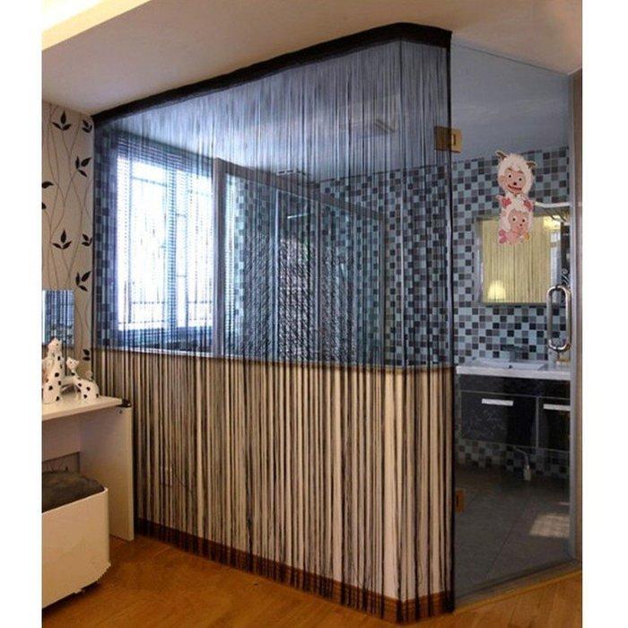 米樂小鋪 韓式直式線簾3mx3m 門簾珠簾窗簾家飾門廉 家飾壁貼 家裡客廳廚房臥室 可作為中間屏斷之用