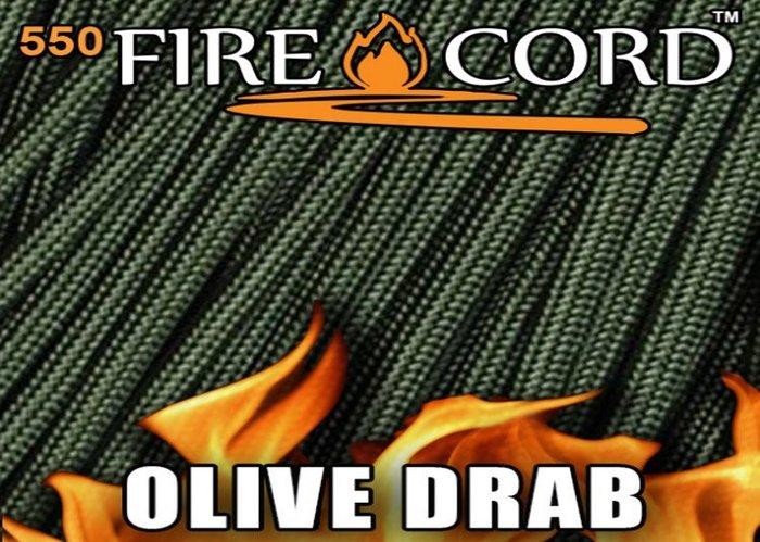 【angel 精品館 】 FireCord 火種傘繩25呎/軍綠色 FC-OLIVEDRAB25