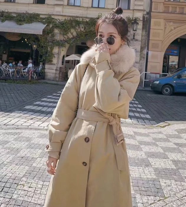 韓國東大門2019新款  - 必敗款 風衣款羽絨外套 韓版羽絨外套 韓國羽絨外套