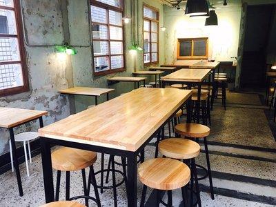 【鐵木創】橡膠木 高腳桌 實木桌 邊桌 營業用  訂製 客製 餐桌 耐刮 餐桌  桌椅 餐桌椅組