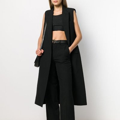 AMI sleeveless trench coat 女無袖長版背心 限時折扣代購中