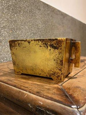 銅鎏金 馬槽爐