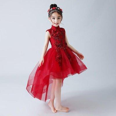 兒童禮服女童公主裙走秀花童婚紗鋼琴演出服