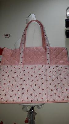泰國NaRaYa粉紅色Rose條紋-大包包,特價$590~~