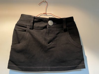全新黑色牛仔短裙