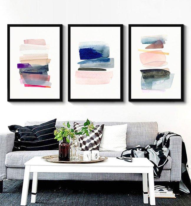 抽象現代簡約形意意境色塊客廳臥室裝飾畫芯高清微噴打印壁畫畫心(不含框)