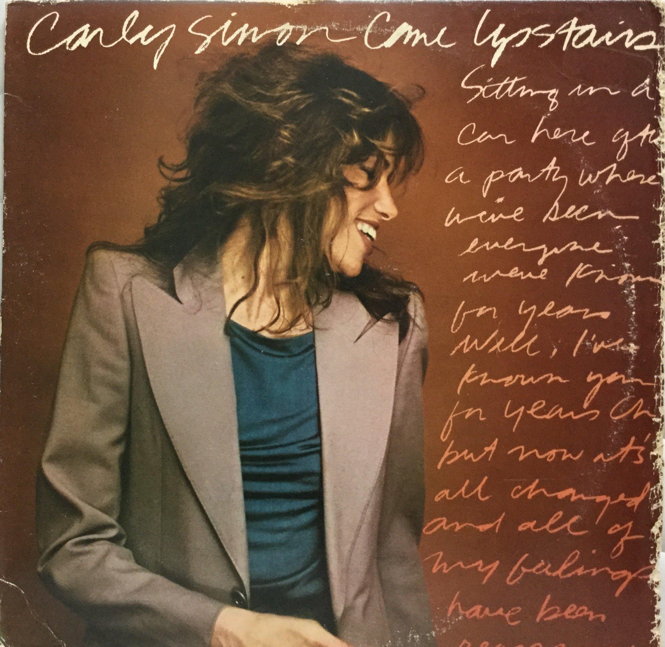 {夏荷 美學生活小舖}西洋美版黑膠 卡利西蒙 Carly Simon-Come Upstairs 1980