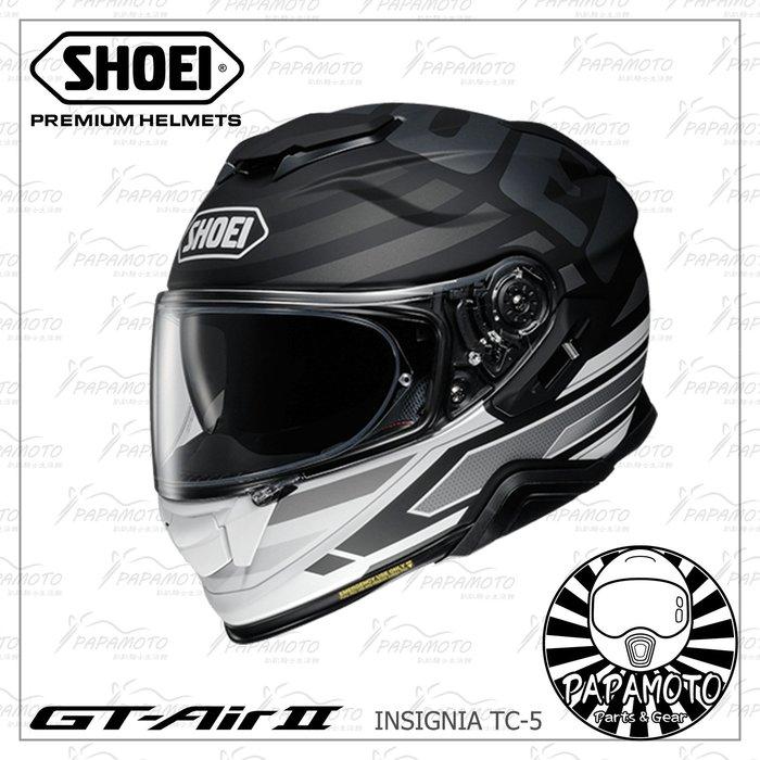 【趴趴騎士】SHOEI GT-AIR II INSIGNIA TC-5 (全罩安全帽 內墨片 GT AIR 2