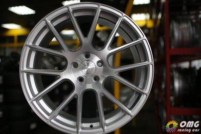 +OMG車坊+全新美國AG鋁圈 VANQUISH 19吋輕量化旋壓鋁圈 5X108 8.5J ET40 髮絲銀