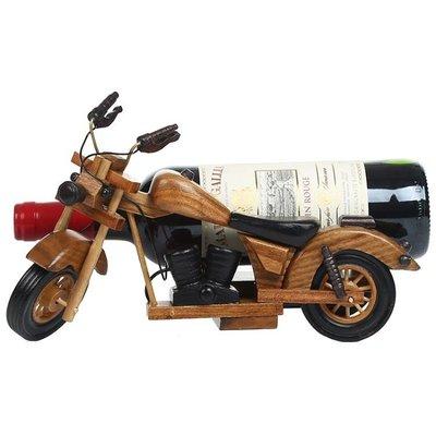 現貨/居家創意摩托車木質紅酒架擺件實木酒瓶架復古裝飾藝家個性洋酒架   igo/海淘吧F56LO 促銷價