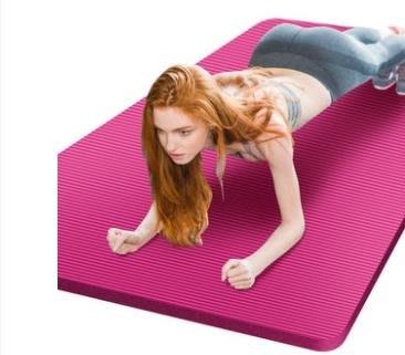 瑜伽墊初學者女士加厚防滑墊子男士加寬長無味瑜珈健身墊三件套裝