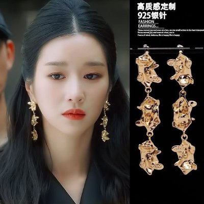 韓國正品代購雖然是病精神但沒關系徐睿知同款異形耳環不規則耳墜