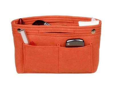 手提款毛氈加厚收納包中包【NF502】大容量收納袋 方形 毛氈化妝收納包
