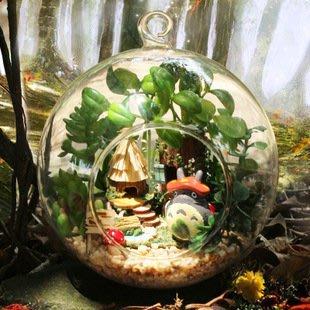 【微景小舖】迷你精靈部落 手工DIY小屋 袖珍屋 玻璃球 模型屋 材料包 玩具娃娃住屋 手做工藝 拼裝房子 禮物