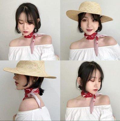菱形裝飾女絲巾復古格子尖角小領巾頭巾百搭圍巾春秋方巾
