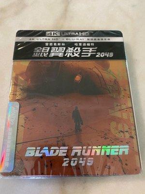 (全新未拆封)銀翼殺手 2049 Blade Runner 4K UHD+藍光BD 雙碟鐵盒版(得利公司貨)