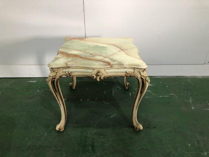 二手家具全省估價(大台北冠均 新五店)二手貨中心--古典優雅歐式石面茶几 小茶几 客廳桌 T-9061609