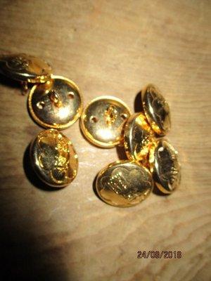 老..銅製...鈕扣...8粒..古早