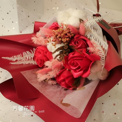 ☆芳馨花園☆乾燥花束-紅色女神乾燥花束【L06132】畢業情人生日婚攝文創布置櫥窗攝影等