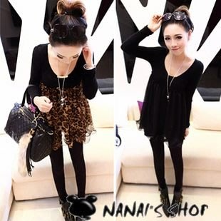 【NAINAIS】Anna‧E132 韓版 可愛系女孩 高腰下擺拼接雪紡娃娃連身裙 2色 現