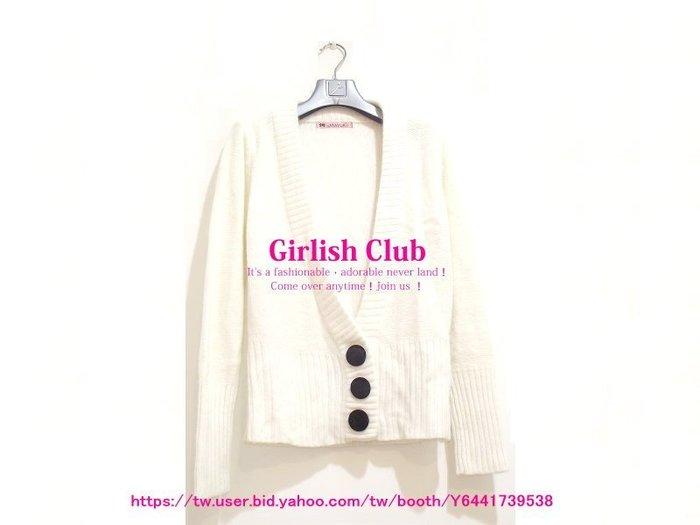 【Girlish Club】香港製排扣開襟毛衣短外套(m931)韓國sz moussy iroo日本sly羽絨六一元起標