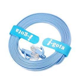 【電子超商】 i-gota 通過歐盟環保認證Cat 6 超薄型網路扁線 3M(FRJ4503)
