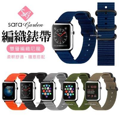 Apple Watch 1 2 3 尼龍編織透氣錶帶 38mm 42mm 【R0425019】