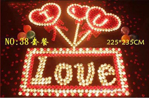 ☆創意小物店☆ 心型套餐NO:38 /排字蠟燭/求婚蠟燭/生日蠟燭/情人節禮物 浪漫表白必備