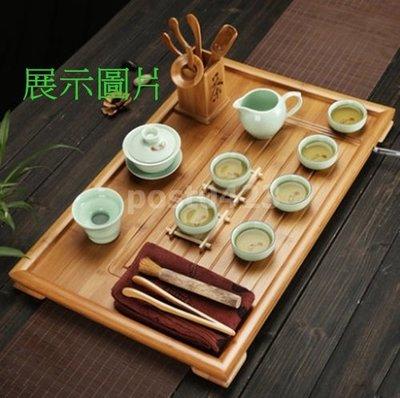 =傾奇電=特大56*37公分 祥福竹製茶盤簡約功夫茶盤 茶托盤 大平板茶台 好排水
