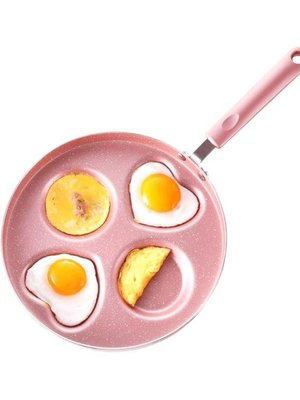 煎雞蛋鍋不粘鍋早餐煎餅鍋家用蛋餃鍋模具四孔平底煎蛋鍋 器神器CY