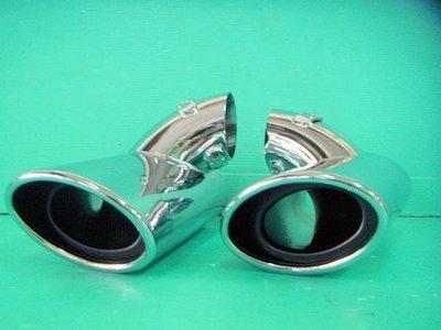》傑暘國際車身部品《全新 BENZ W211 賓士W211專用白金不鏽鋼單管排氣管 尾飾管特價中