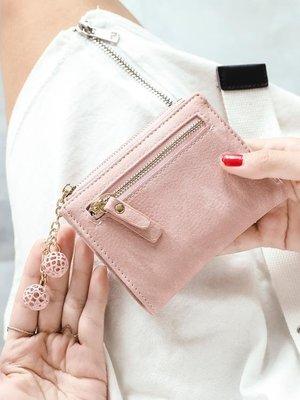 米印錢包女短款學生韓版可愛新款小清新多功能折疊錢夾零錢包