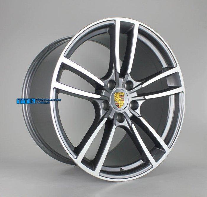2018 PORSCHE保時捷 Cayenne E3鋁圈C款 全客製化 鍛造&旋壓&鑄造 21吋 前後配 黑車面&灰車面