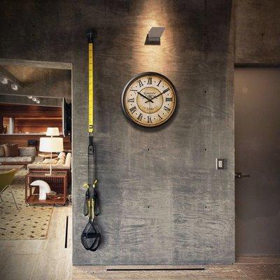 〖洋碼頭〗歐式復古客廳美式臥室靜音石英鐘表創意時尚大掛鐘掛表古典壁鐘 ogh101