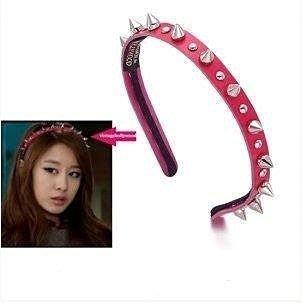 韓劇Dream High 2  T-ARA智妍 孫佳人 泫雅 搖滾鉚釘髮箍 髮飾