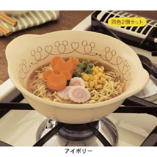 ~FUJIJO~現貨~日本迪士尼DISNEY【Mickey米奇】日本製 日本萬古燒高耐熱大碗公/拉麵碗2個一組