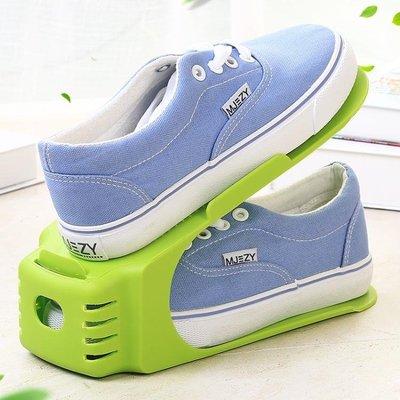 鞋架 可調節一體式鞋架家居用品簡易塑膠鞋架大學宿舍雙層鞋托收納日韓