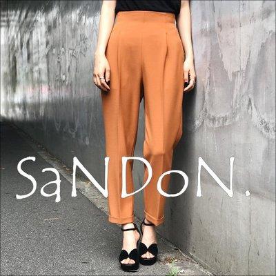 SaNDoN x『SLY』八月夏季官網完售 整個十分正點 多色高腰花苞顯瘦線條捲邊西裝九分長褲 韓妮 170810