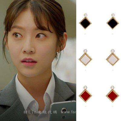 【韓Lin代購】韓國 GET ME BLIN- 明星同款鈦針耳環 COLOR STUD WITH PEARL