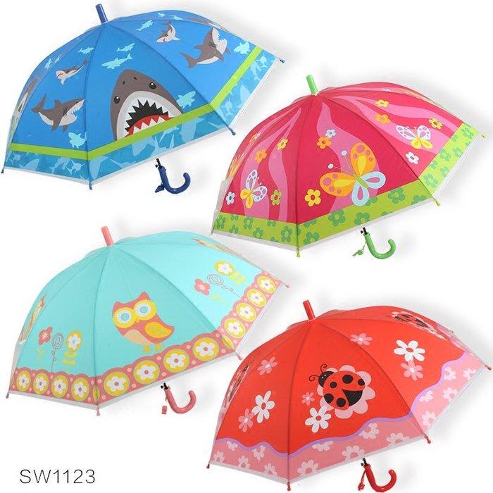 奇奇店-原創卡通蝴蝶鯊魚貓頭鷹男孩女孩學生兒童POE自動晴雨傘#加固 #小清新 #晴雨兩用